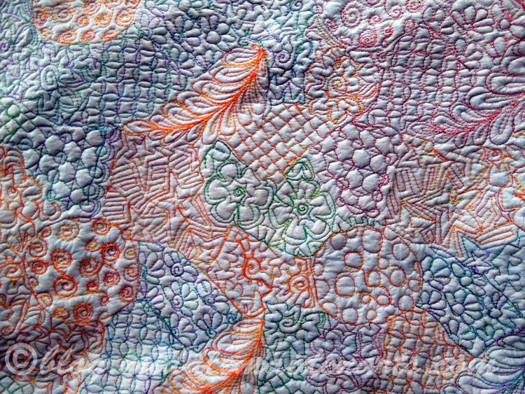 backside of stitched fabric