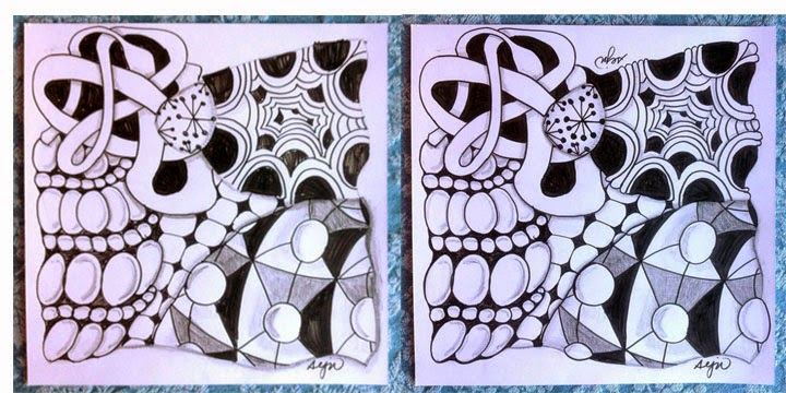image of zentangle tiles