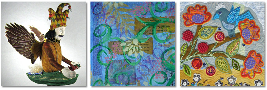 collage of artwork by Susan E J White