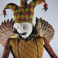 Birdman sculpture, front view