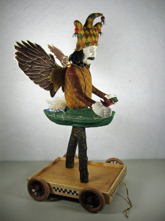 Birdman sculpture, right view