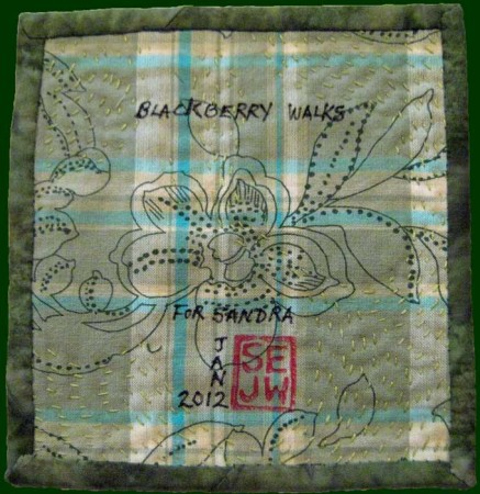 Blackberry quilt, back view