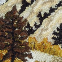Clearwater River rug hooking