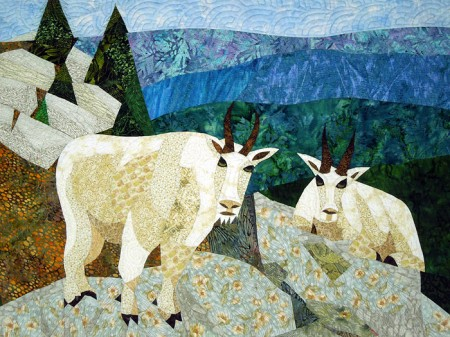 Black Mountain Goats quilt, detail