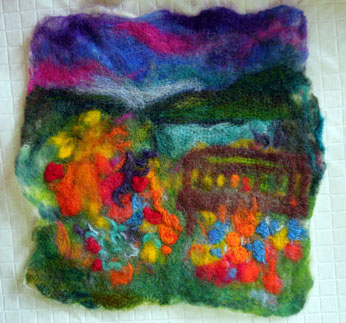 wet felted piece