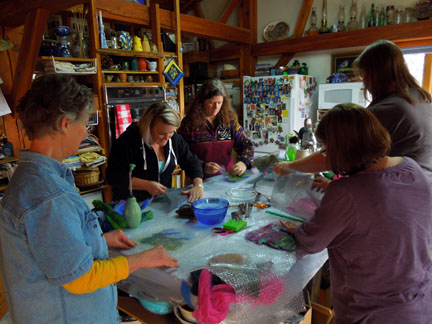 Crafty Chicks Saturday Felting