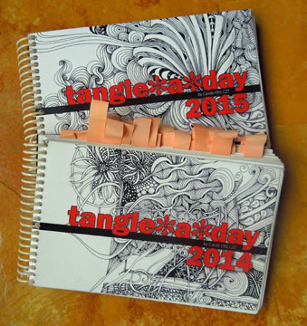Image of 2 Tangeladay calendars.