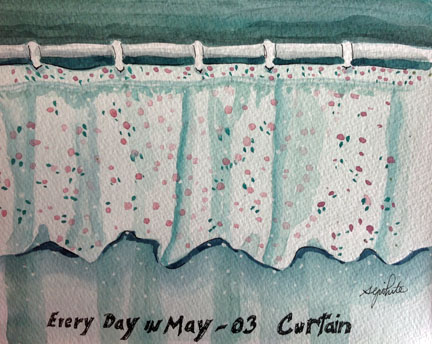Sketch of a shower curtain
