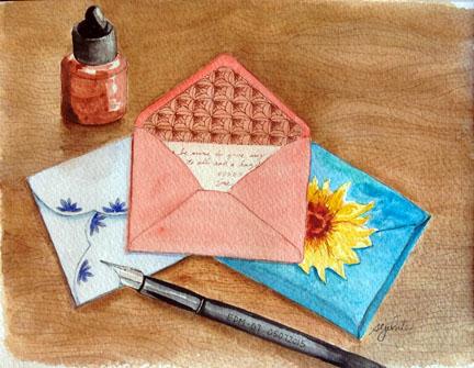 sketch of envelopes