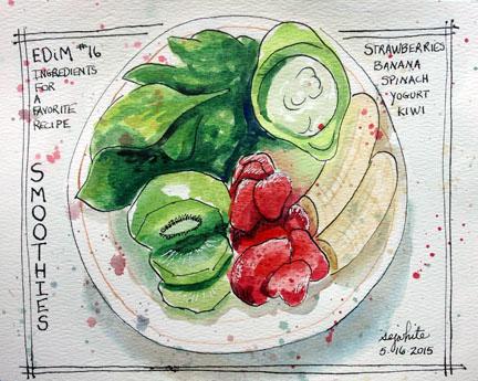 sketch of favorite meal items
