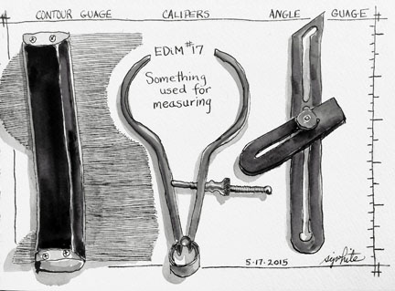 sketch of tools in black and white