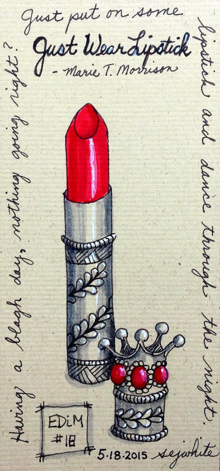 sketch of lipstick