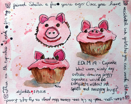 sketch of cupcakes