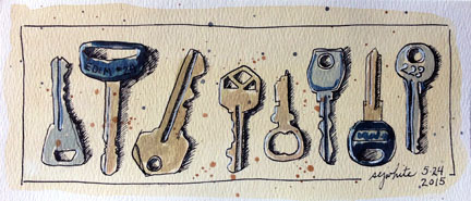 sketch of keys