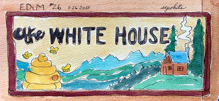 sketch of white house sign