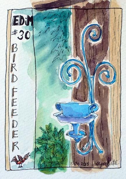 sketch of bird feeder