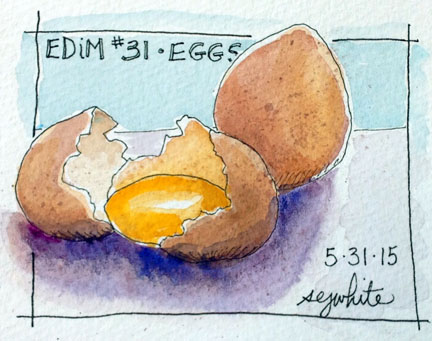 sketch of eggs